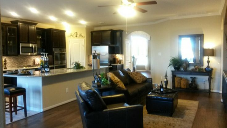 Open kitchen and living room. DR Horton model home | Kitchen ...