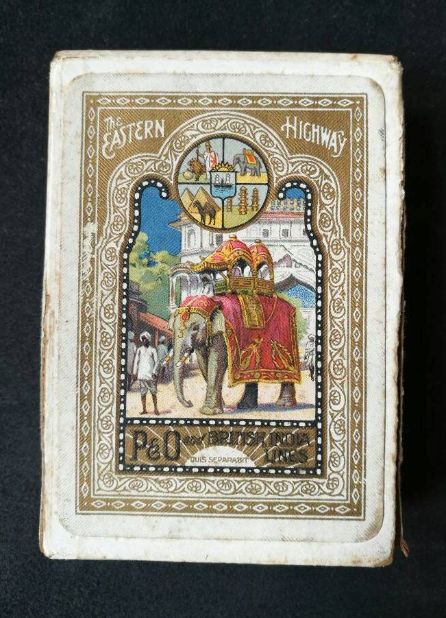 Rare Vintage The Eastern Highway P&O And British India Lines Playing Cards By Thomas De La Rue And Co Ltd. De La Rue Pneumatic Series F by OnyxCollectables on Etsy