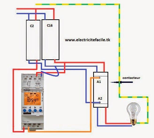 Schema Interrupteur Crepusculaire Avec Contacteur Et Horloge Contacteur Interrupteurs Plan Electrique Maison