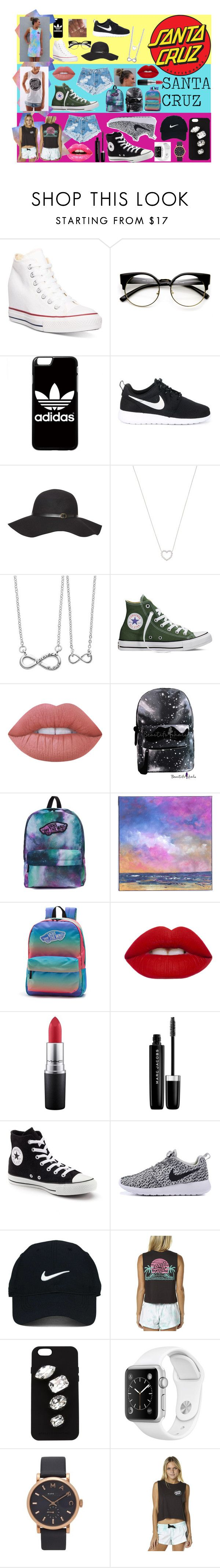 - Santa Cruz -  by lidage on Polyvore featuring Santa Cruz Skateboards, Converse, NIKE, Vans, Marc Jacobs, Side by Side, Tiffany & Co., STELLA McCARTNEY, Nike Golf and Dorothy Perkins