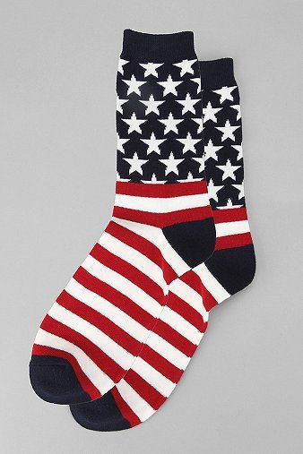 Let patriotism run through your wardrobe, starting with your socks.