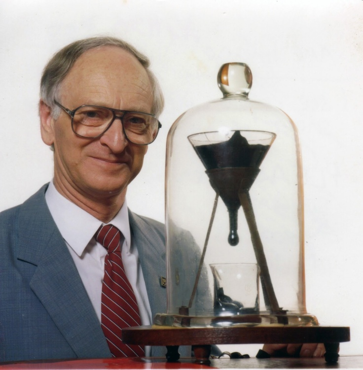 The Most Exciting Video of Nothing Happening: Pitch Drop Experiment in 2013..