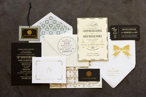 : Black And White, Maema Paperi, Graphics Design, Black White Gold, Cool Wedding Invitations, Design Logos, Gorgeous Black, Design Elements, Wedding Invitations Design