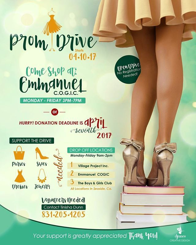 #LADIES if you have any new or gently used #PromDresses or #FormalDresses taking up space in your closets, donate them for a great cause! You can donate at one of the drop off locations listed on the flyer by April 7th. Have any questions, feel free to contact me! #SayYesToTheDress #PromDrive #Dresses #Shoes #Accessories #Jewelry #MontereyCounty #831 #Seaside #Marina #Monterey 👗👠👑👛💕 BIG THANKS TO @missss_jones FOR THE FLYER 😘 #montereylocals - posted by…