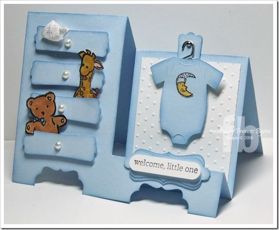 BabyDresser...too cute. Basic Stair Step Card  Instructions  http://www.splitcoaststampers.com/resources/tutorials/StairStepfold/