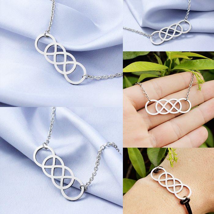 NOI SIAMO INFINITO ---Collana/Bracciale Doppio Infinito--- La collana e il bracciale Doppio Infinito sono realizzati in acciaio inox. Il ciondolo rappresenta il doppio infinito significato di eternità (per sempre), di ciò che è illimitato e senza fine; anche se il vero significato rimane soggettivo. Il bracciale è disponibile con catena in acciaio inox o caucciù.   Un gioiello perfetto da regalare al vostro miglior amico/a o anima gemella. <3 #gadget #gadgets #computer #tablet #laptop…