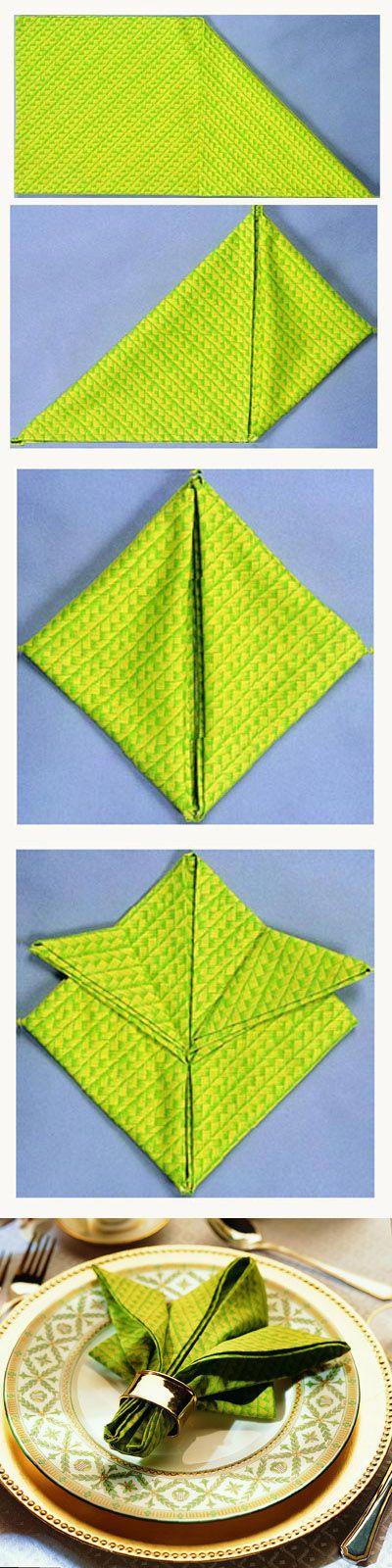 Doblar servilletas con forma de Flor de Lis