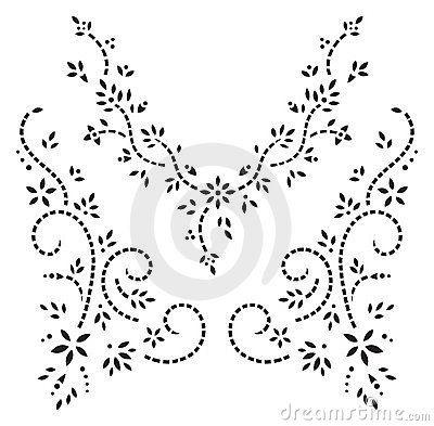 Floral henna design.
