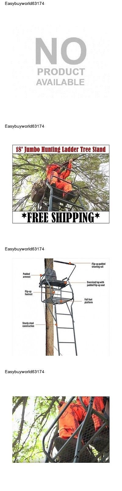 Tree Stands 52508: Deluxe 18 Ladder Tree Stand,Oversized Top Bigger Guy Hunting Deer Stand -> BUY IT NOW ONLY: $546.99 on eBay!