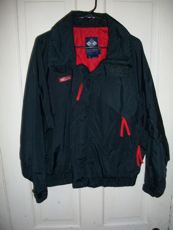 Mens Columbia Jacket Coat Size Medium Black And Red #Columbia #BasicJacket