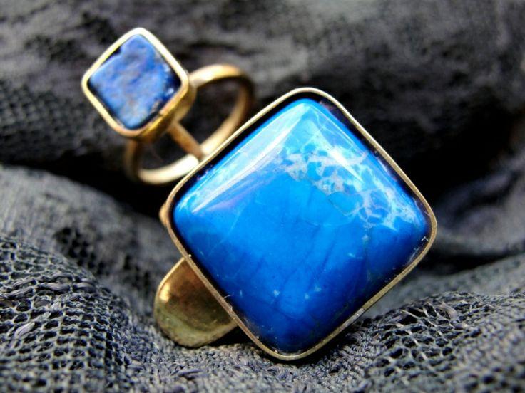 """Designer-jewelry. Bijuterie de autor - Inel """"So Blue"""""""