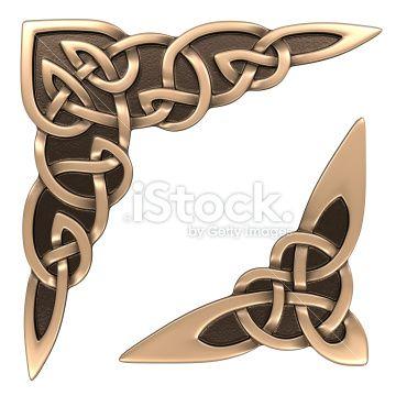 Celtic ornament (corner) Royalty Free Stock Photo