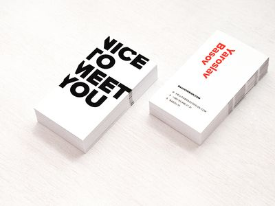 Business Card. Basov Design