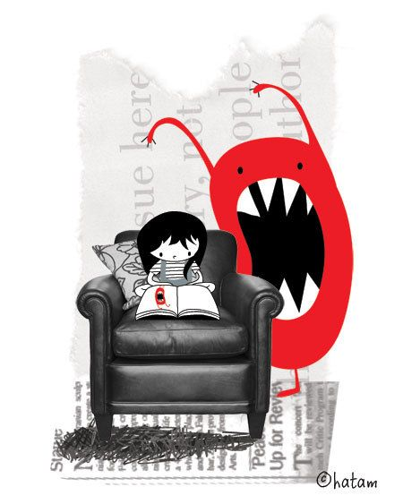HollyDraws on @Etsy - how a good book makes you feel...