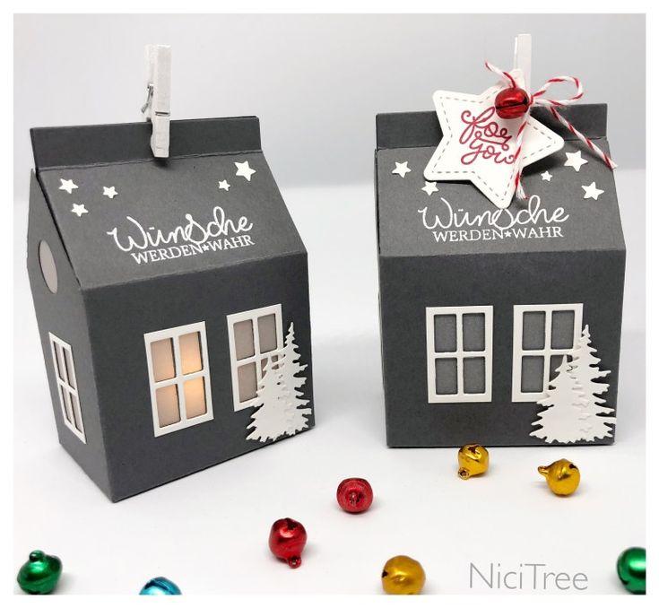 Winterhäuschen – kreativ verschenken #weihnachten #weihnachtsgeschenk #gesche…