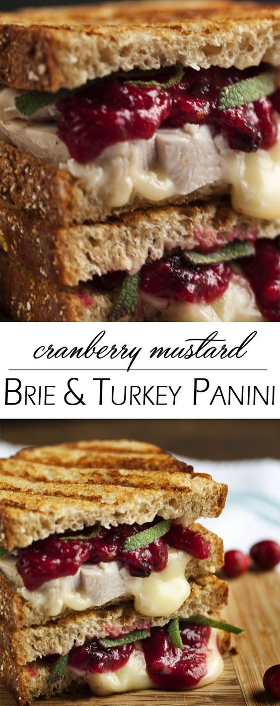 Turkey, Brie and Cranberry Mustard Panini - Once Thanksgiving is over, the question is what to do with all the leftovers. This turkey, brie, and cranberry panini provides the delicious answer. | justalittlebitofbacon.com