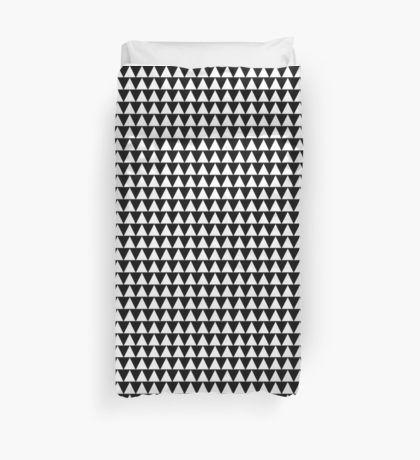 scandinavian triangle bunting pattern duvet cover