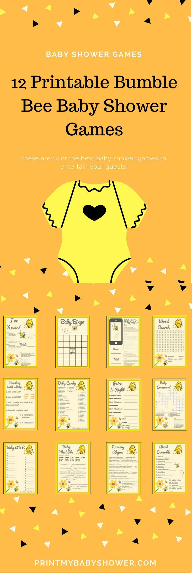 printable baby shower games | printable baby shower games for boys | printable baby shower games templates | bumble bee baby shower theme | bumble bee baby shower ideas