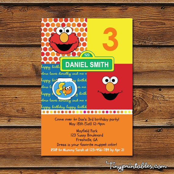 51 best cookie monsterelmo party images – Elmo Party Invitations Printable