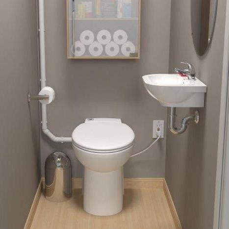 Saniflo SaniCOMPACT | One Piece Upflush Toilet                                                                                                                                                     More