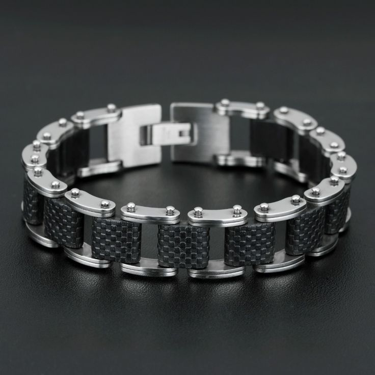 bracelets bangles Rock Style Fashion Titanium Steel Silicone bracelet men and bracelet for men & bracelet silver