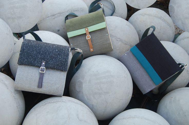Bolsos con laterales de madera