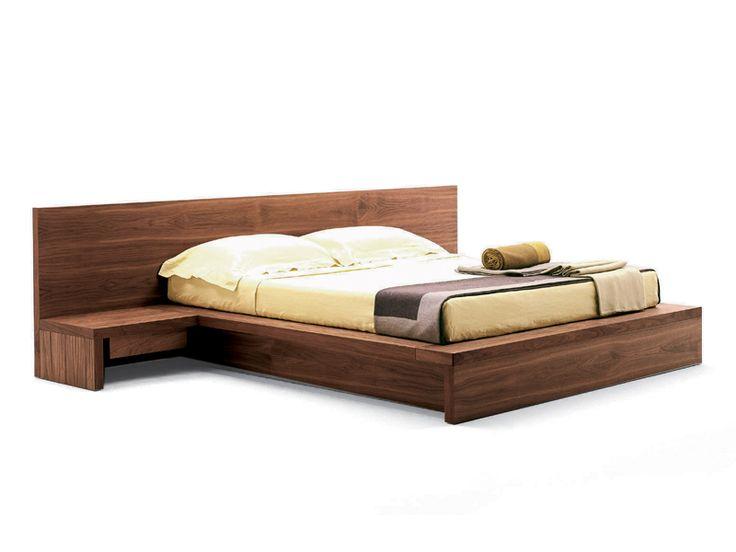Wooden double bed COMO Como Collection by Riva 1920 | design Pininfarina