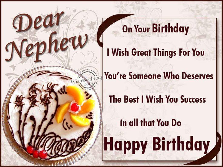Birthday Wishes for Nephew | Happy Birthday Dear Nephew - WishBirthday.com