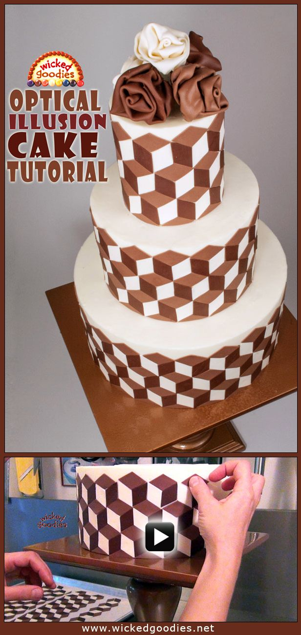 Optical Illusion Cake Tutorial Wicked Goodies #compartirvideos #funnyvideos