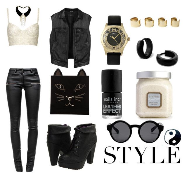 """Fx"" by nono191910 ❤ liked on Polyvore featuring mode, Topshop, rag & bone, Blowfish, Anine Bing, Marc by Marc Jacobs, Zelia Horsley, Charlotte Olympia, Maison Margiela et Nails Inc."
