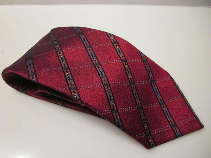 NWT Mens Red Plaid Tie Necktie Dani Moda Maschile Retail $60 #Dani #NeckTie