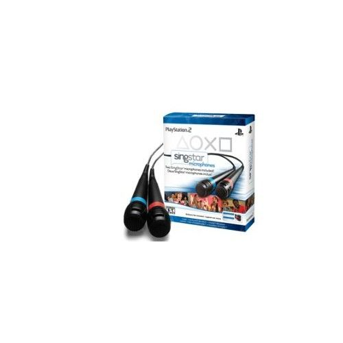2 Singstar POP ROCKS AMPED 90s 80s Microphones PS2 PS3  Pair of Microphones & USB Converter than can be used for SingStar Pop, 80s, 90s, Rock & Amped.