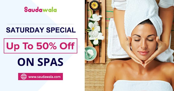 SATURDAY SPECIAL: Get up to 50% Off on Spas. Visit: http://bit.ly/2nOz4rG #SpaAndSalon #Discount #Offers #Coupons #Deals