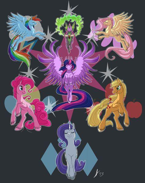 #317137 - alicorn, applejack, artist:biscuitcrumbs, female, fluttershy, mane seven, mare, pinkie pie, pony, rainbow dash, rarity, safe, spike, twilight sparkle, twilight sparkle (alicorn), unshorn fetlocks - Derpibooru - My Little Pony: Friendship is Magic Imageboard