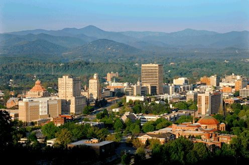 Asheville, NC:  Blown away by its beauty.  Stretched a one-week job into two so I could go back the next week. ;-)