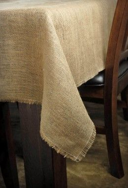 10.49 SALE PRICE! Use the Burlap Square Tablecloth to add rustic accents to your party tables. Whether for an outdoor or indoor occasion, this natural coveri...