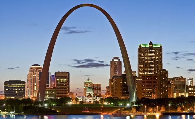 The four-minute elevator ride up the Gateway Arch in St. Louis, Missouri, brings you to the top of the 630-foot-tall wonder.  (Jiong Dai / Dreamstime.com) From: 12 Unbelievable Elevators.