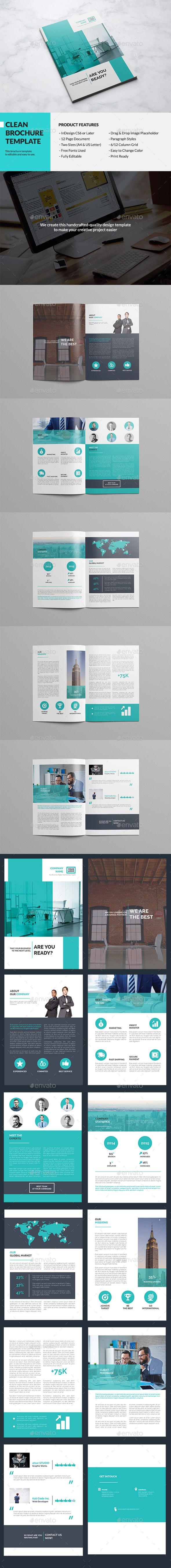 Clean Multipurpose Brochure Template InDesign INDD #design Download: http://graphicriver.net/item/clean-multipurpose-brochure/13500032?ref=ksioks