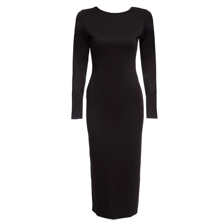 2017 New Arrival  O-neck Tight Back Zipper Dress Fasion Women Bodycon Winter Autumn Sheath Women clothing