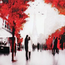 The Lovers Canvas Framed Art