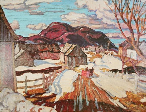 Group Of Seven Art - A.Y. Jackson On The Road To Baie St Paul
