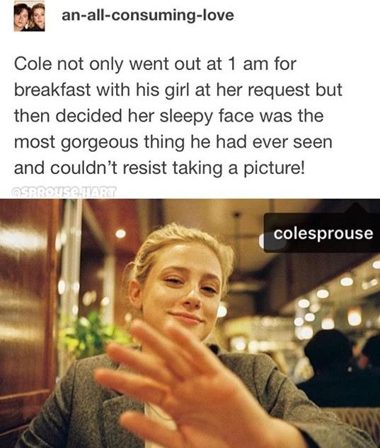 The cutest thing is that Lili posted this- tagging Cole! Love them!