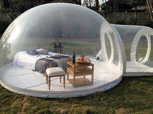 Nu te koop: een opblaasbare bubbel-tent in de vorm van een iglo.