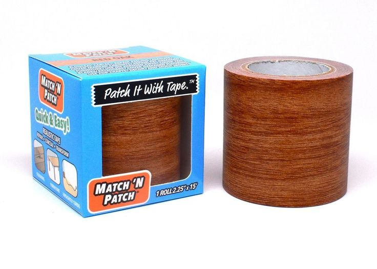 Match 'N Patch  Repair Wallpaper Tape Wooden Red Oak Realistic Cabinets Decor Up #Match