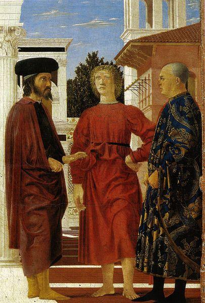 1455-60,or 1445-78. Flagellazione di Piero della Francesca,Palazzo Ducale di Urbino - Galleria Nazionale delle Marche