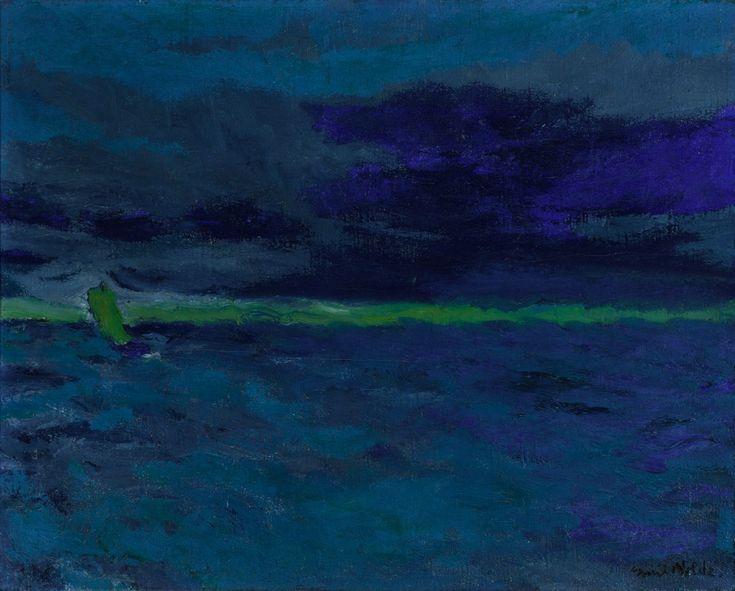VMFA Blue Sea (Blaues Meer) painting by Emil Nolde [seen at LACMA Van Gogh to Kandinsky]