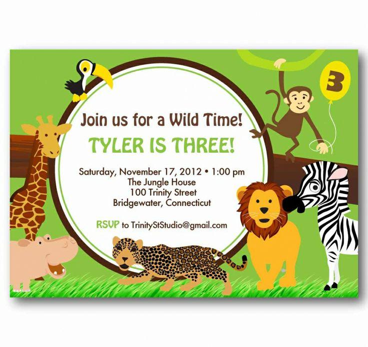 96 best Kids Party - Jungle / Safari Theme images on Pinterest ...