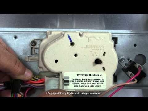 Reemplazando el temporizador lavadoras whirlpool - YouTube