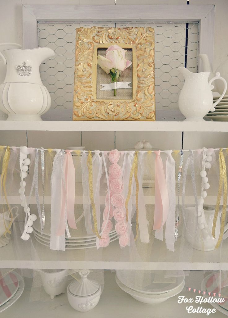 Simple Wedding Party Decorations : Pink and gold budget bridal shower party decorating ideas plus a