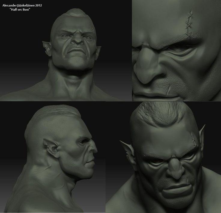 Half-Orc Head 3D by ~AlexAvander on deviantART